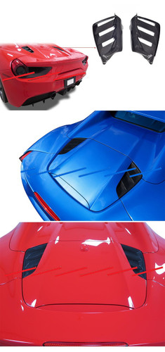 Ferrari 488 Carbon Fiber Engine Hood Vents Covers