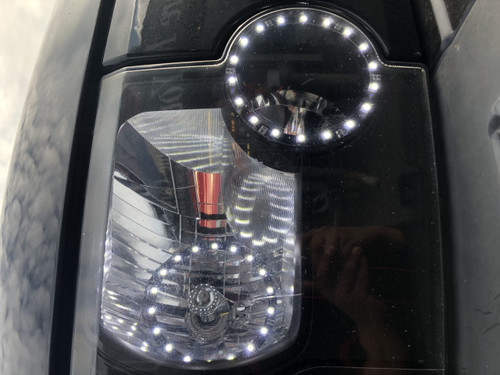 Land Rover Discovery 3 Headlight Staggered LED Conversion 2013 Style