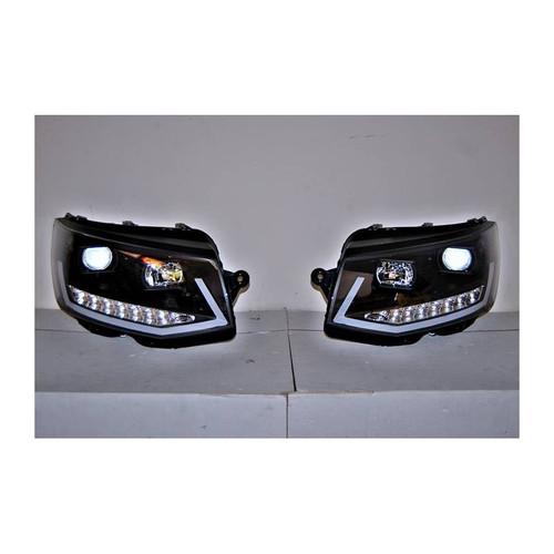 VW Transporter T6 Headlights DRL Black