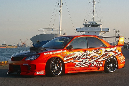 Subaru Impreza Hawke Eye Charge Speed Style Super GT Body kit