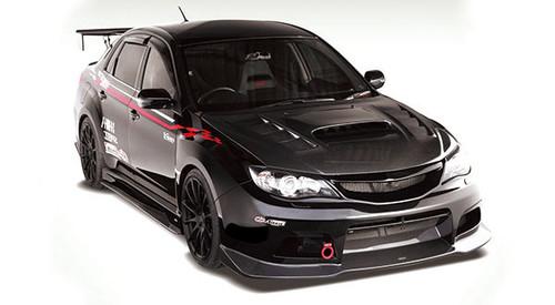 Subaru Impreza GVB V Style Carbon Fiber Bonnet