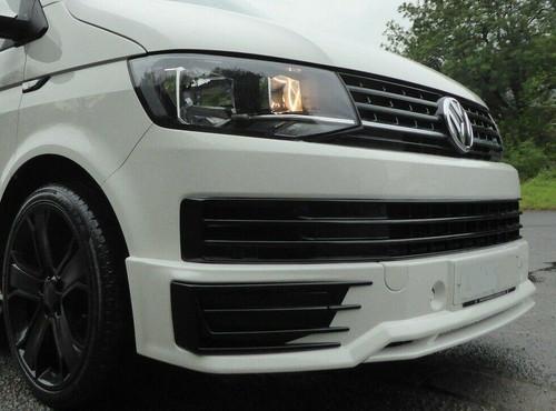 VW Transporter T6 Sportline Style Front Lower Bumper Lip