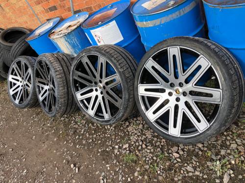"24"" Barugzai Exel Alloy Wheels & Tyres Range Rover / Sport"