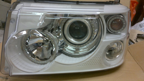 Range Rover Sport Headlight Conversion painted internals