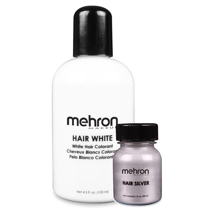Mehron hair white and hair silver