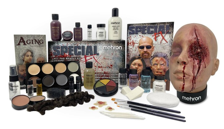 Special FX All-Pro Makeup Kit and Practice Head