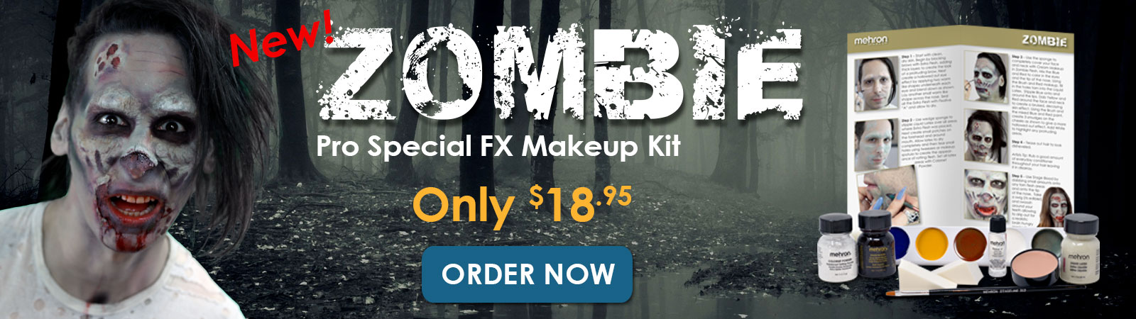 New Mehron Zombie kit