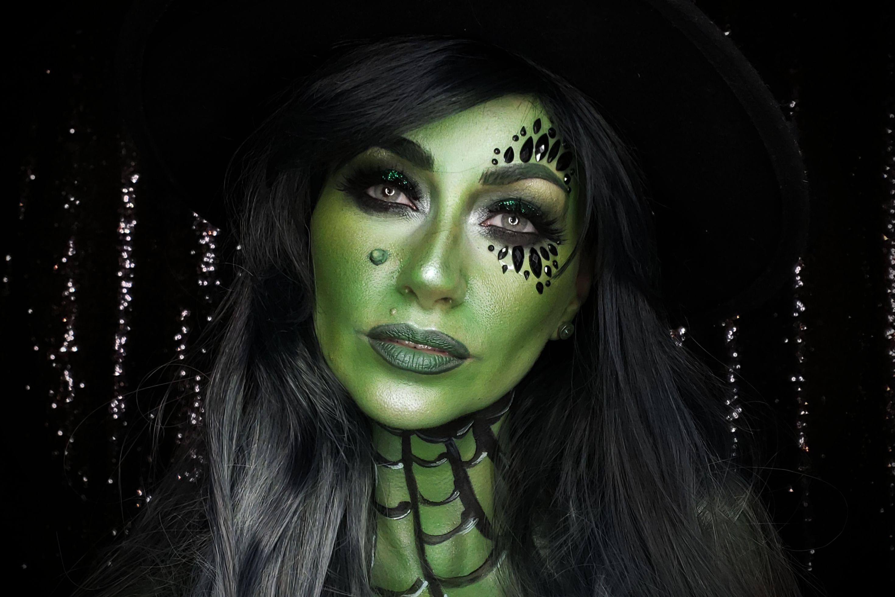 Green Witch Makeup Tutorial   Mehron