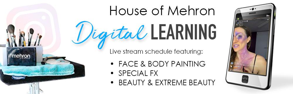 Mehron Digital Learning header banner