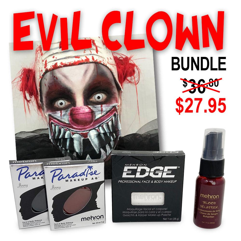 Evil clown makup look