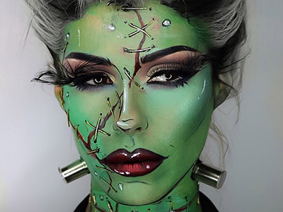 Creepy Halloween makeup