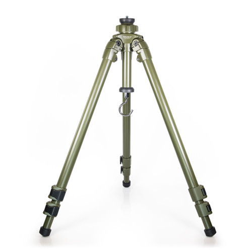 A removable, load bearing hook, has been added to the bottom of the center column to hang weight, such as a backpack, greatly increasing tripod stability for