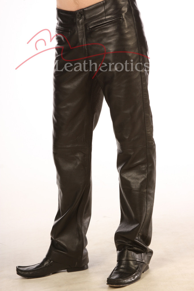 real leather men's dress trousers