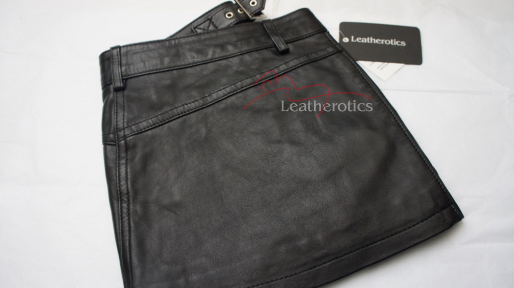 Full Grain Leather micro mini Skirt Tight Low Waist Hipster image 5