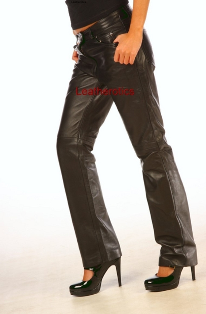 Skinny Leather  Women's Jeans Trousers pic 2