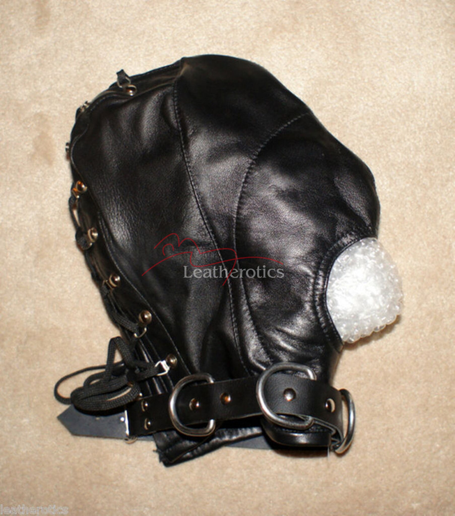 Bdsm Goat Leather Tight mask hood