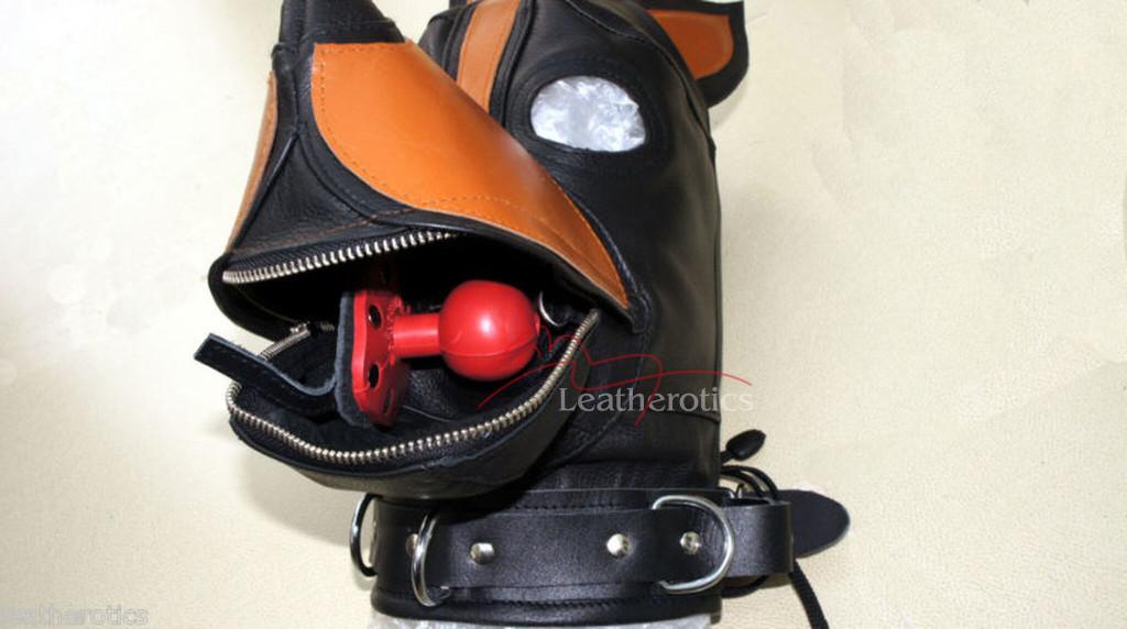 Bdsm leather dog mask pic 4