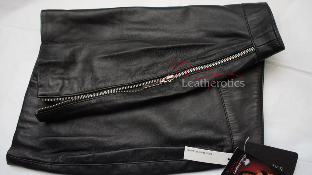 Designer Classic Leather Skirt Mini Tight Fit - details