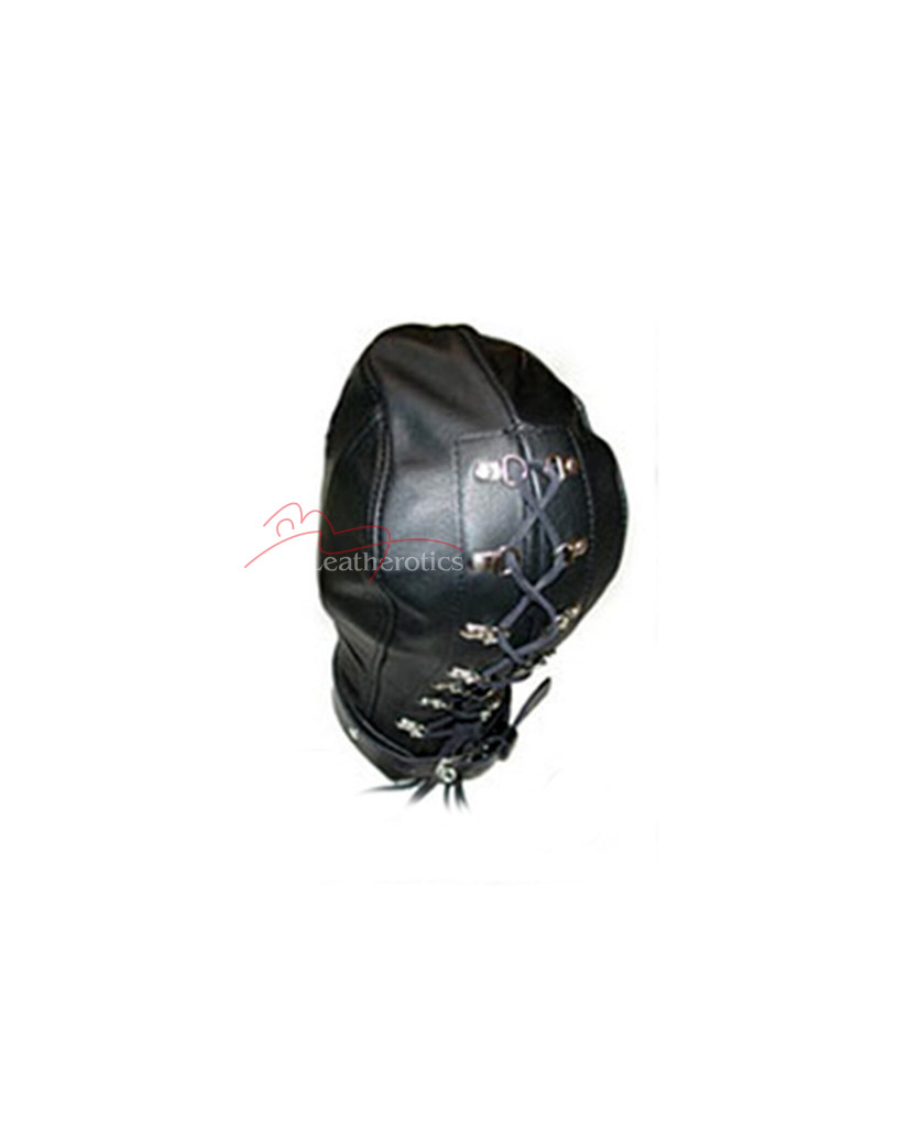 Soft Leather slave mask with open mouth