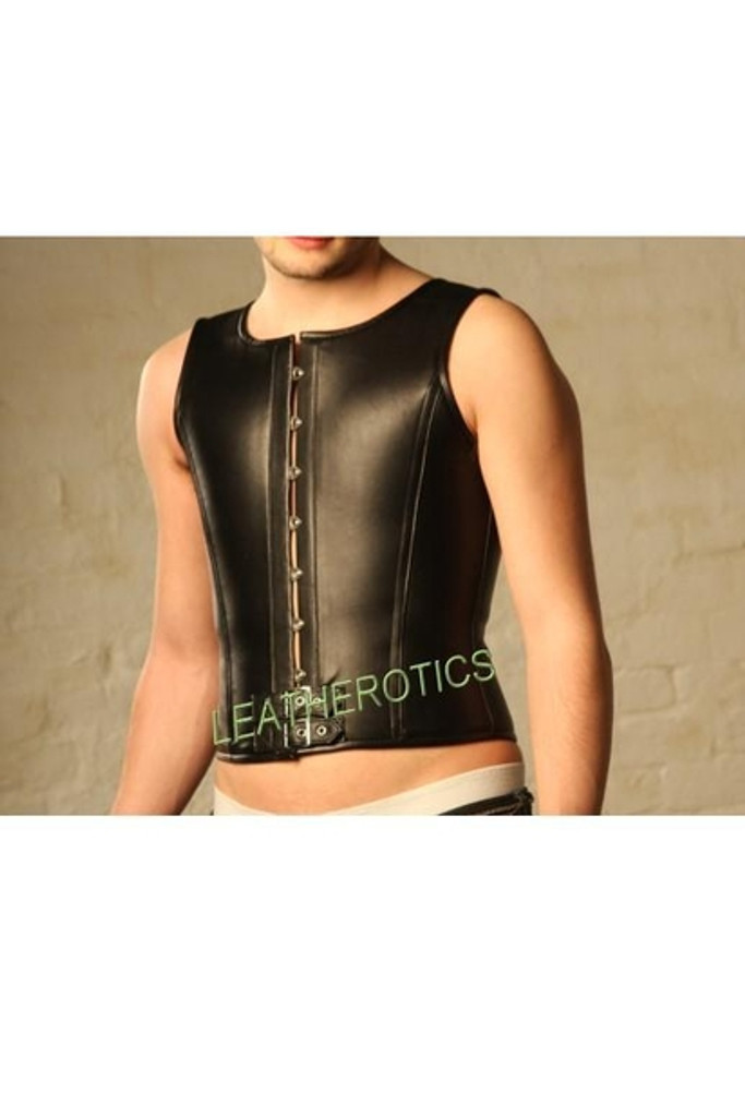 ens leather corset - front