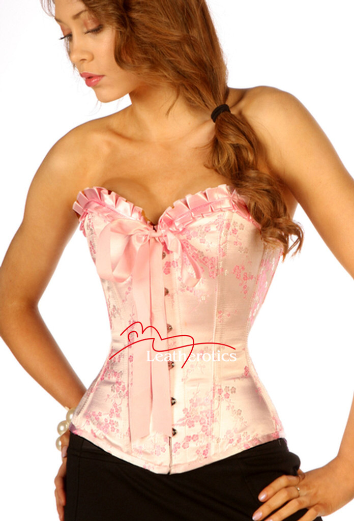 pink frilly corset