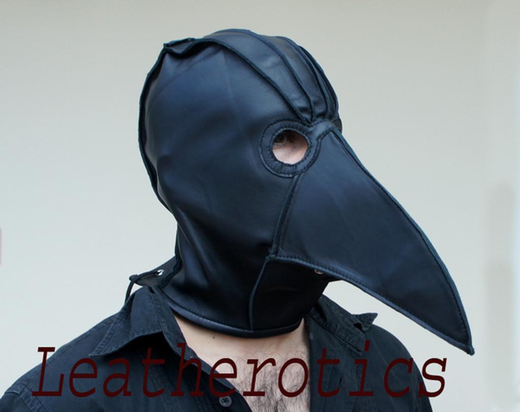 Black leather doctor mask
