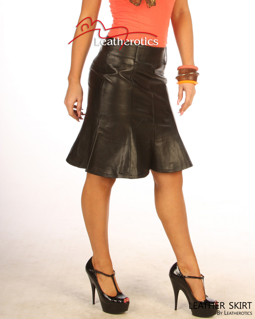 Real Leather tight fit Hobble Style Skirt image