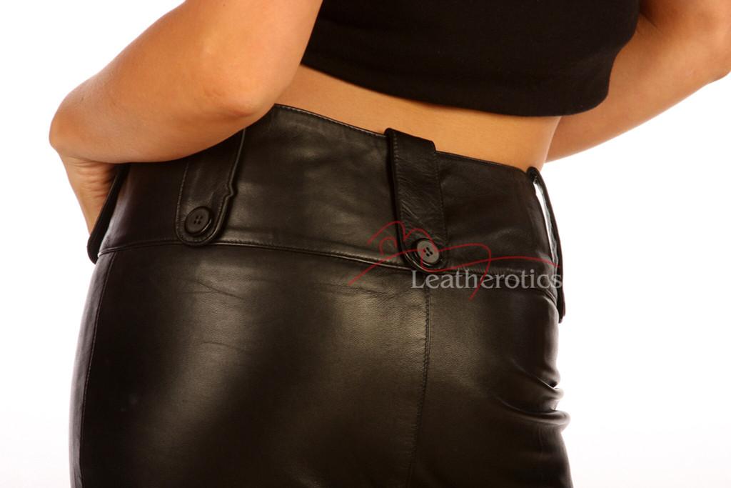 leather long pencil skirt model 1