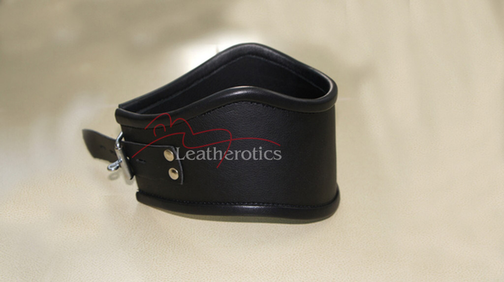 Real leather neck collar