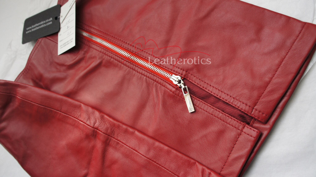 Red Leather Skirt Classic Design Super Sexy Mini Skirt image 2