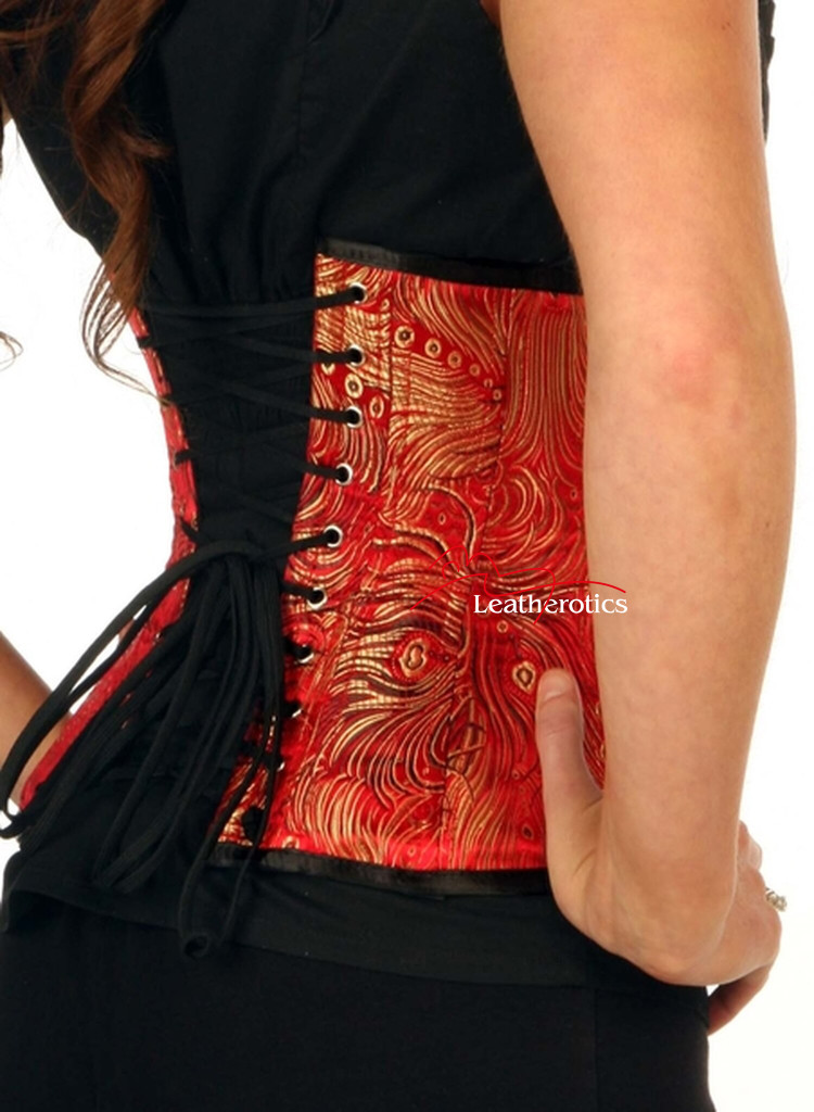 1811 red brocade corset