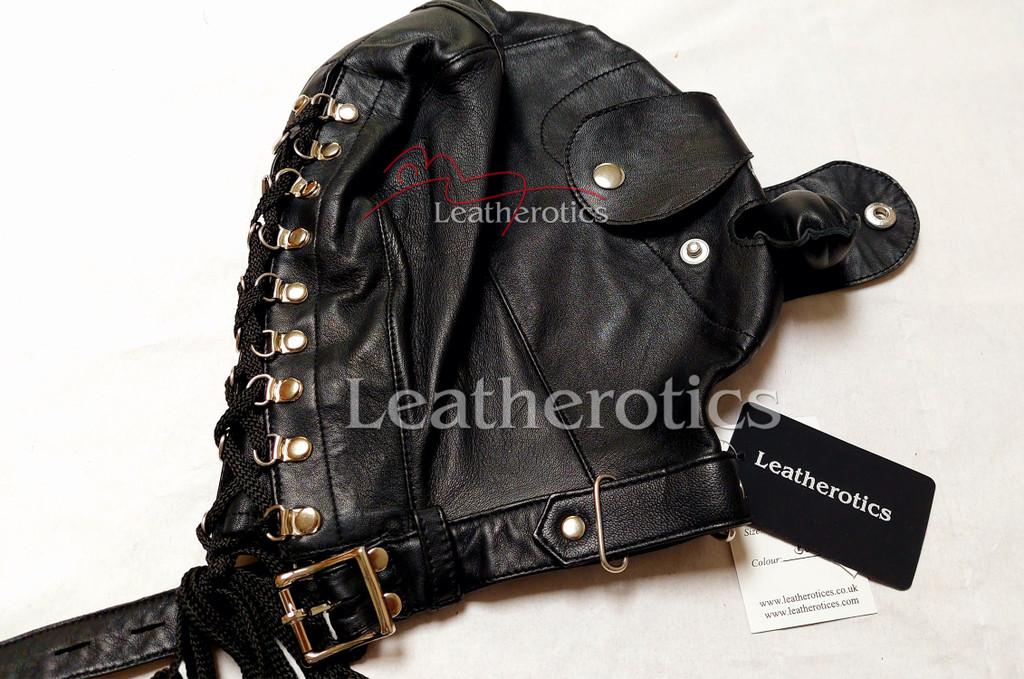 Black leather mask m2