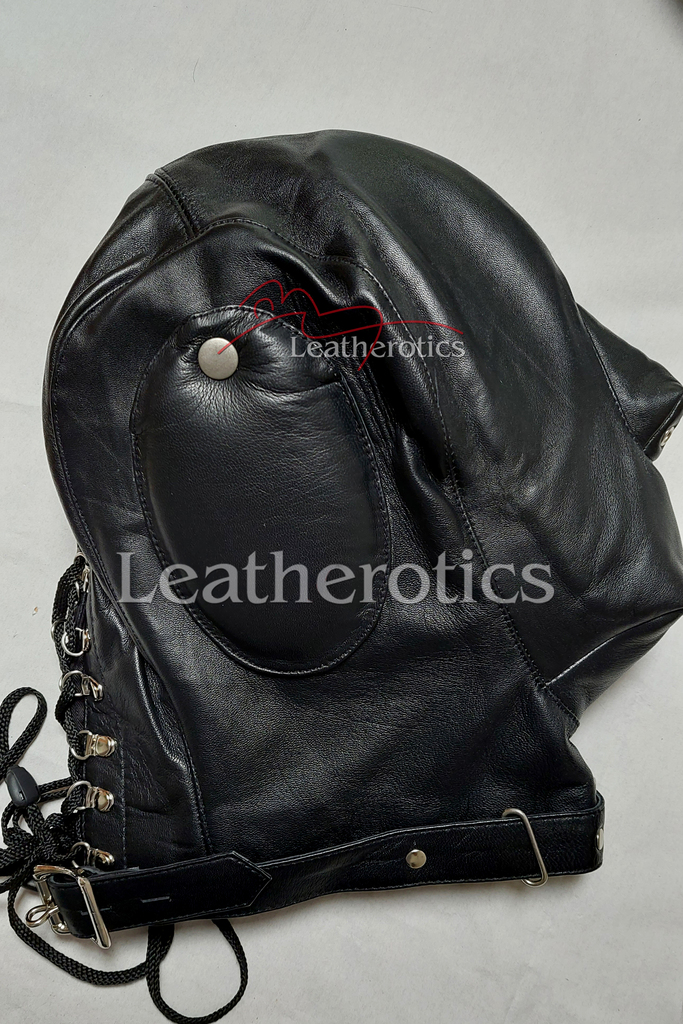 Leather sensory deprivation mask 3