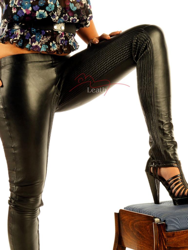 Stretch Natural Leather Leggings STLEGG pic 2
