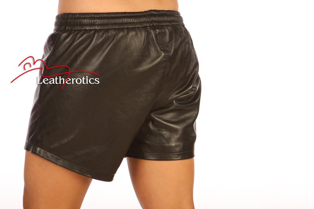 Unisex Leather Boxer Shorts French Knickers FK image 2
