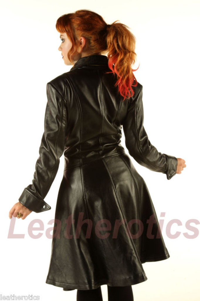 Ladies Leather Victorian Coat image 3