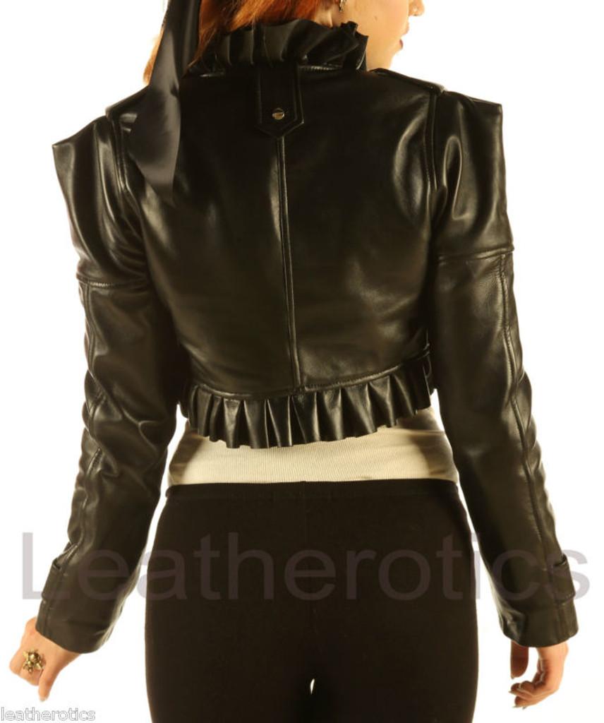 Ladies Leather Waistcoat Steampunk Waist Coat vest Top Bolero