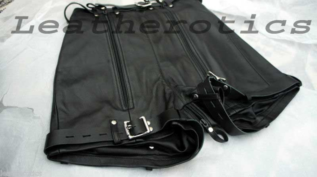 Mens Natural Leather Binder Chastity Shorts Knickers Bondage