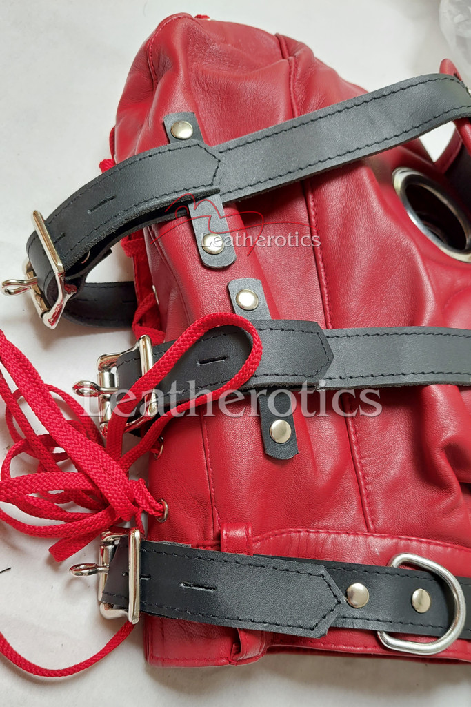 Red Leather Mask M6 2