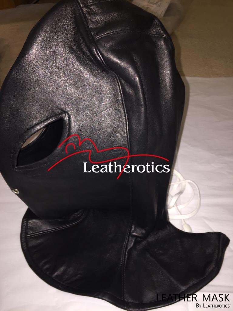 Full Grain Leather Long Line Mask Hood bondage bdsm