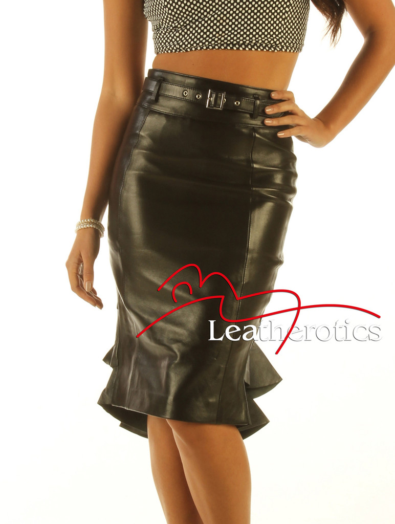Leather mermaid skirt pic1