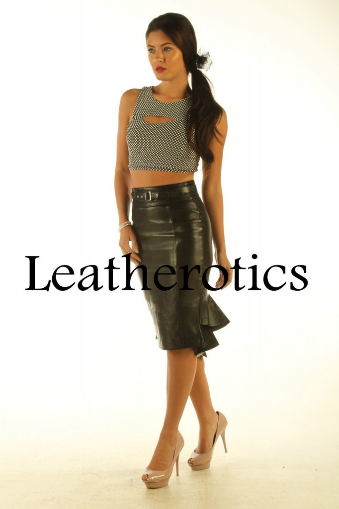 Leather Skirt fishtail style pic 1