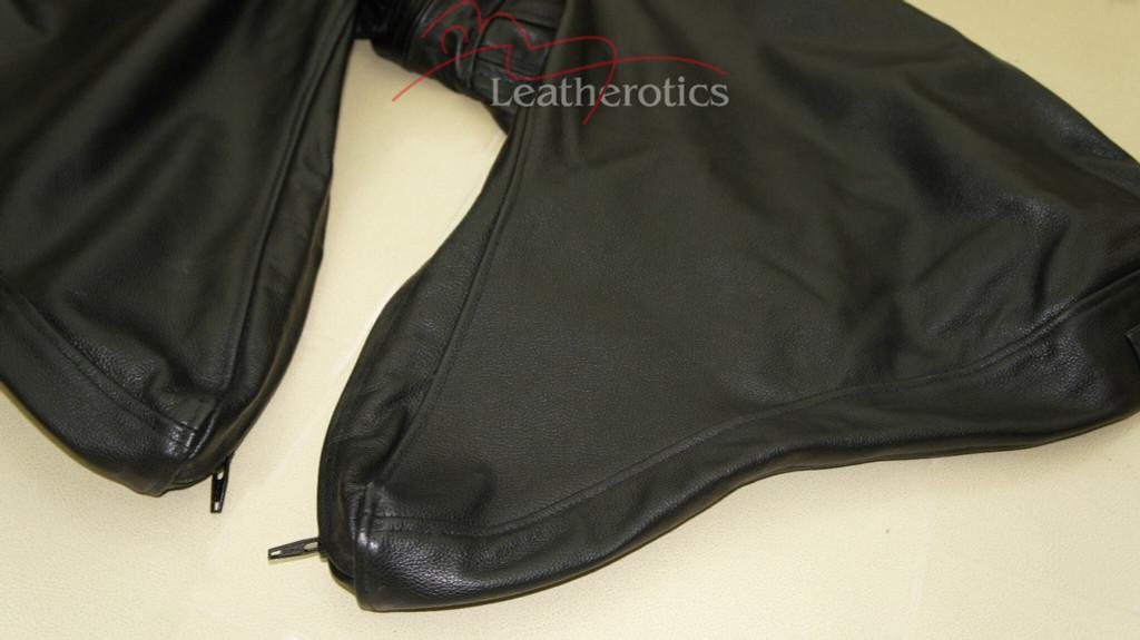Leather Bodybag Bondage B-Suit with Mask Restraint Gimp suit pic 5