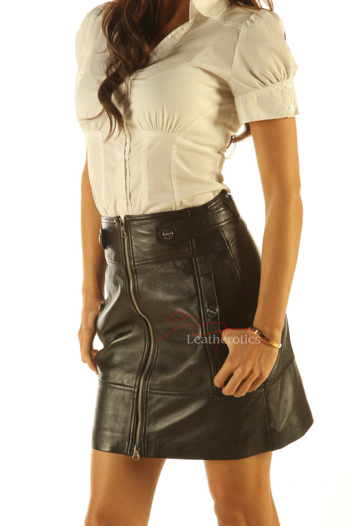 pencil leather skirt pic 1