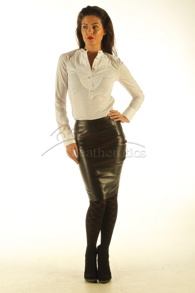 pencil leather skirts