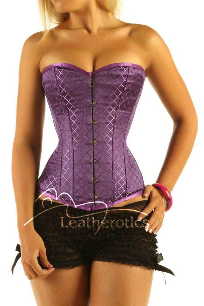 Purple box overbust corset