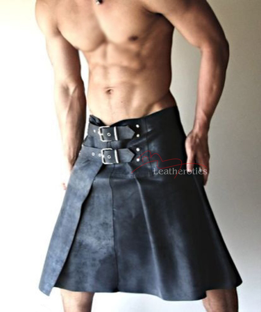mens leather kilt3