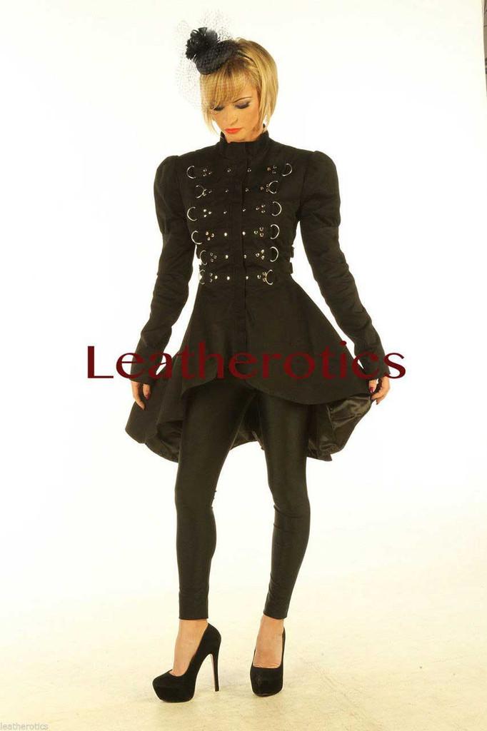 Black Cotton dress Steampunk Ladies Top Jacket STP6