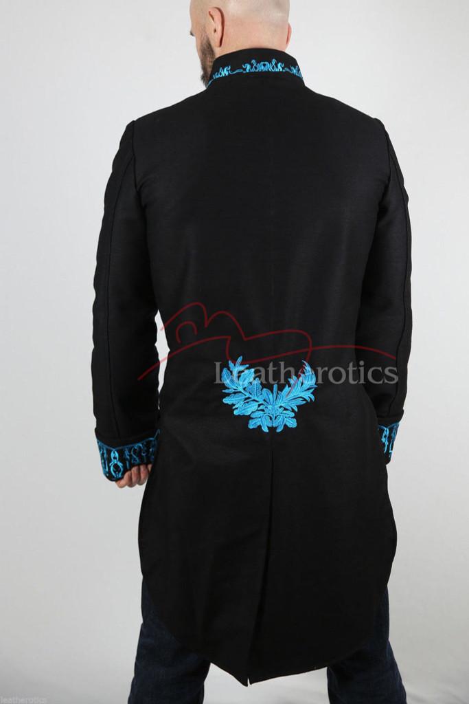 Men's Victorian Tailcoat Morning Dress Jacket Top Blue STP7
