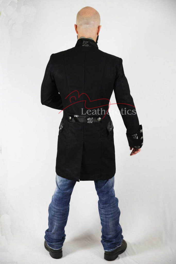 Men's Gothic Outfit Vintage Coat Pirate Top SPFL